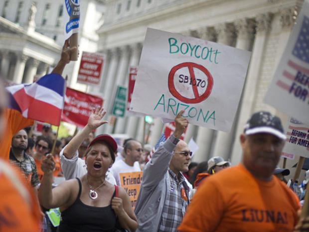 Rallies Against Arizona Law