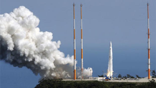 South Korean Rocket Launches, Then Blows Up