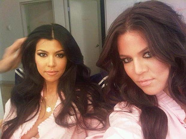 Kourtney and Khloe Kardashian