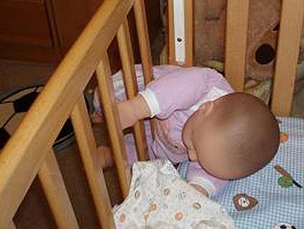 Children can become trapped in faulty drop-side cribs.