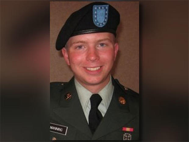 An undated photo of Army Spc. Bradley Manning.