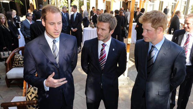 David Beckham and the Princes