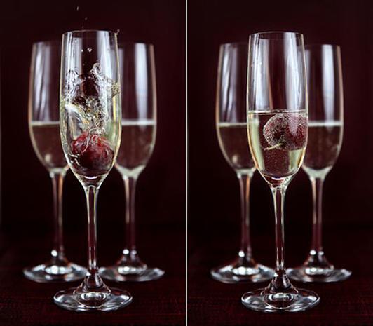 160-Calorie Sugar Plum Champagne Sorbet