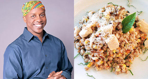 Chef Marvin Woods and his risotto.