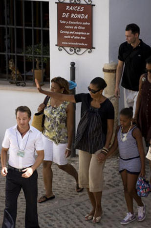 The Obamas in Spain