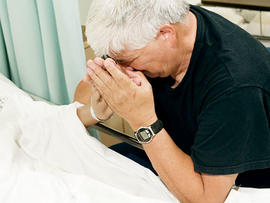 end of life care, praying, sick, dead, old, dying, generic, stock