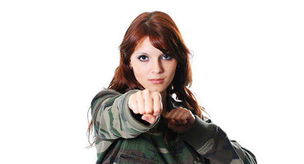 army, generic, soldier, woman, punch