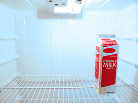 empty refrigerator, fridge, milk, generic, stock
