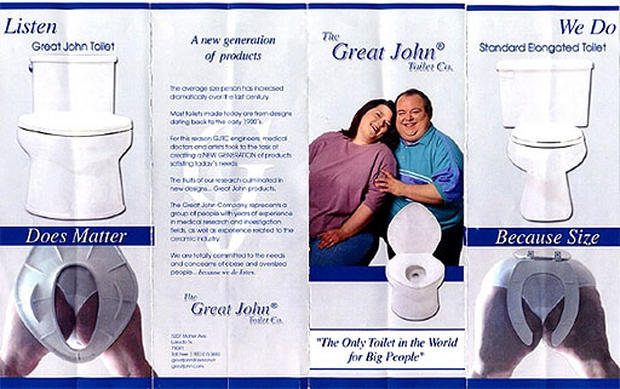 Titanic Toilet and 7 Other Gizmos for Plus-Sized People