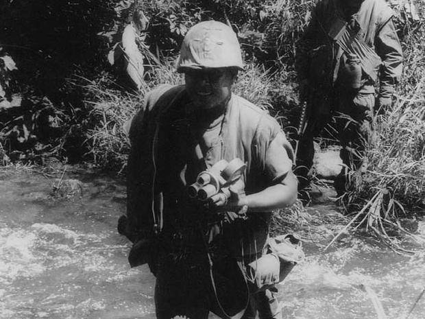Ray Bribiesca, working as a cameraman in Vietnam