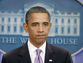 President Barack Obama makes a statement to reporters about the suspicious packages found on U.S. bound planes, Friday, Oct. 29, 2010, in the James Brady Press Briefing Room of the White House in Washington. (AP Photo/Charles Dharapak)
