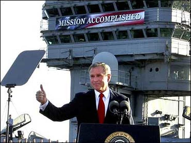 George W. Bush, Mission Accomplished