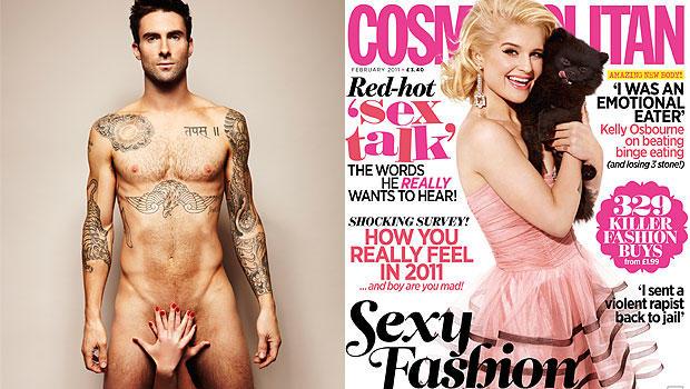 Adam Levine naked.