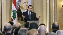 Saad Hariri speak in Beirut