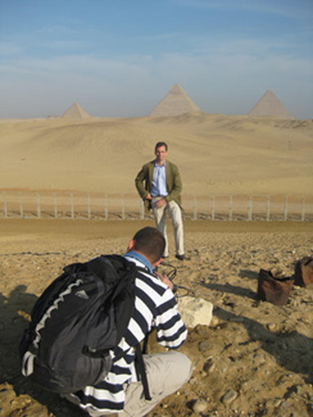 CBS News correspondent Terry McCarthy reporting from the pyramids in Giza, Egypt.