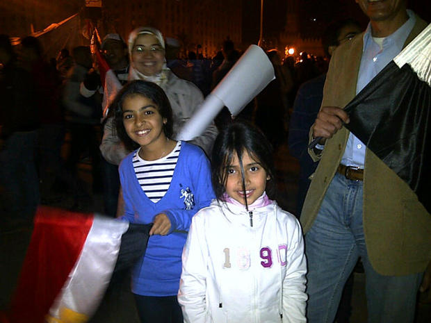 families celebrate in Egypt