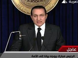 Mubarak  speech
