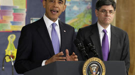 President Obama with Office of Management and Budget Director Jacob Lew
