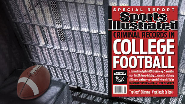 Football in jail cell and Sports Illustrated cover