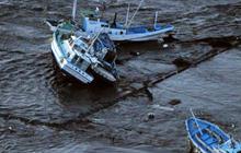 Japan tsunami tosses ships