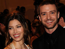 Jessica Biel and Justin Timberlake attend the Costume Institute Gala Benefit at The Metropolitan Museum of Art on May 3, 2010, in New York.