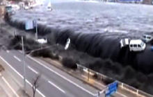 Caught on tape: Japan tsunami the moment it hit