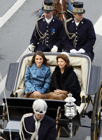 Riding in royal style