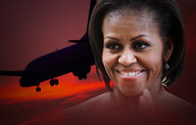 Recording of Michelle Obama plane being diverted
