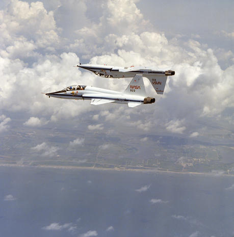 The jet that trained the astronauts