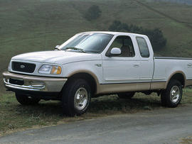 In this file photo provided by Ford Motor Co., the 1997 Ford F-150 pickup truck, is shown. U.S. safety regulators are investigating a fuel tank problem that could affect more than 2.7 million 1997-2001, Ford F-150 pickup trucks.
