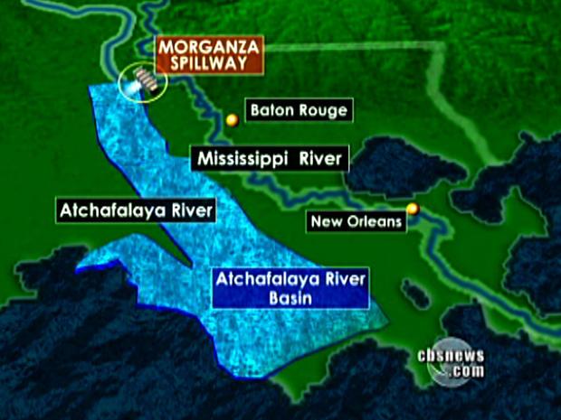 Louisiana flooding map