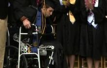 """""""Exoskeleton"""" allows paralyzed grad to walk"""