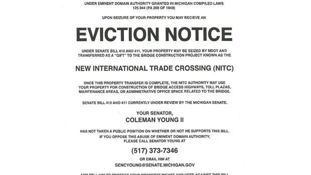 Fake Michigan eviction notice