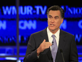 Mitt Romney participates in New Hampshire Republican presidential debate
