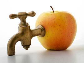 apple, liquid, faucet, tap, liquid diet, fruit, juice, stock, 4x3