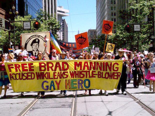 Bradley Manning gay pride