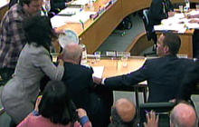 Rupert Murdoch attacked during hearing