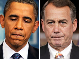 Obama and Boehner debt talks breakdown