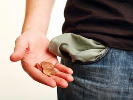 telomeres, no money, poor, empy pocket, broke, stock, 4x3