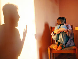 child abuse, neglect, emotional abuse, angry parent, yelling, silhouette