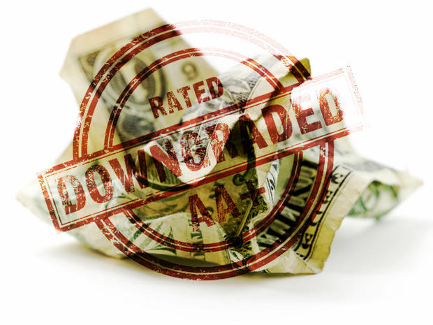 US credit rating downgraded