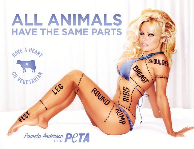 Pamela Anderson for PETA
