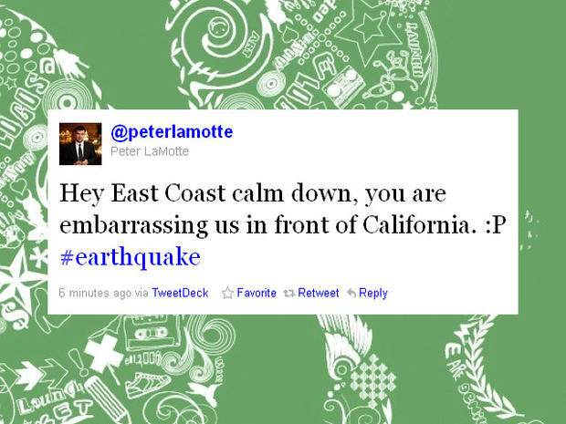 New York City tweeters react to Virginia earthquake tremors