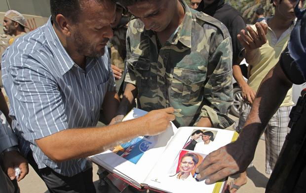 Condoleezza Rice, Qaddafi, Libya