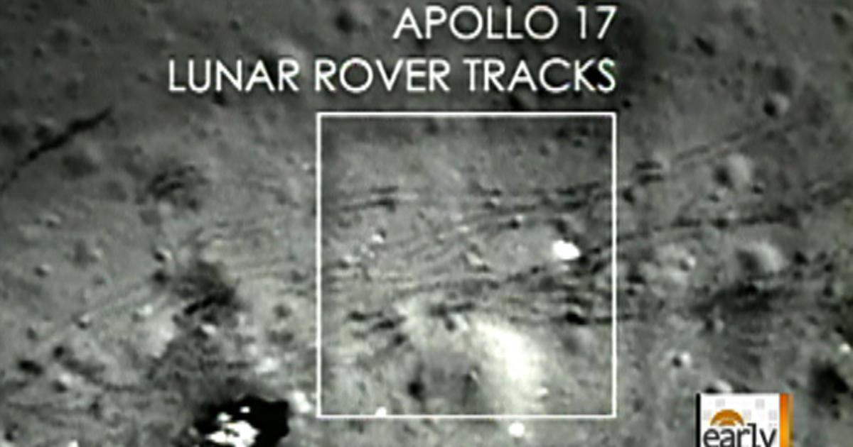 apollo tracks on moon - photo #16