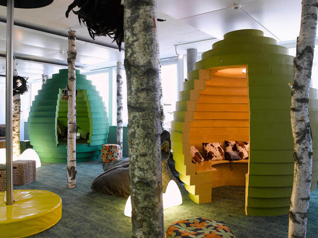 Google pods 25 cubicles cooler than yours pictures for Google office zurich design