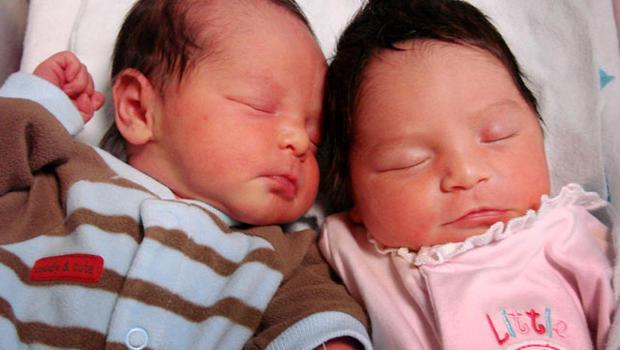 double uterus, twins