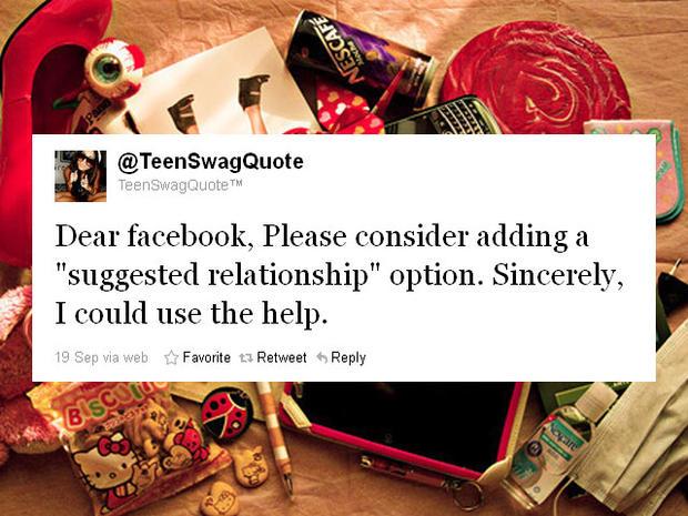 """""""Dear Facebook"""" letters via Twitter"""