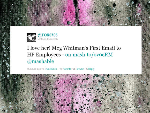 Meg Whitman supporters tweet
