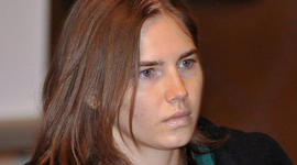 Amanda Knox arrives for an appeal hearing